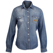 KB518 Kariban Ladies Long Sleeve Denim Shirt
