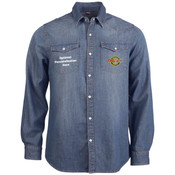 KB519 Mens Kariban Long Sleeve Denim Shirt
